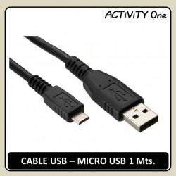 CABLE USB-MICRO USB 1 Mts....