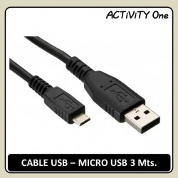 CABLE USB-MICRO USB 3 Mts....
