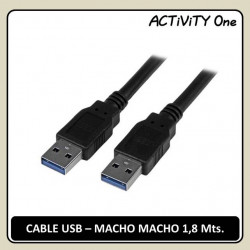 CABLE USB TIPO A-A M-M 1,8Mts