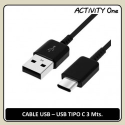 CABLE USB 2.0 A TIPO C 3M