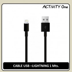 CABLE USB A LIGHTNING NEGRO 1M